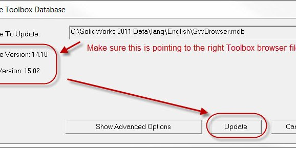 SOLIDWORKS Toolbox Database Wrong Version