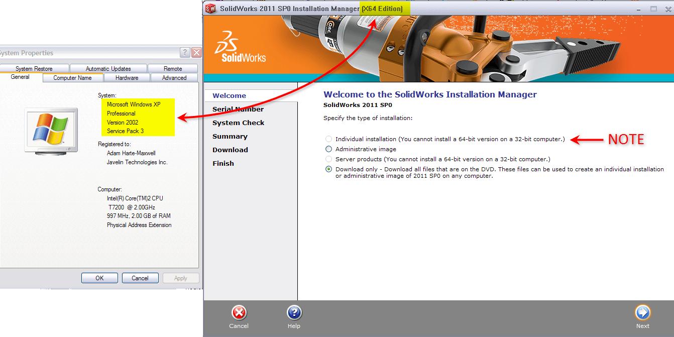 x64 fileset downloading on x86 machine