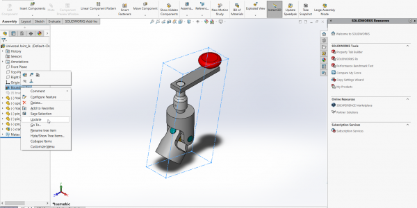 SOLIDWORKS Assembly Bounding Box