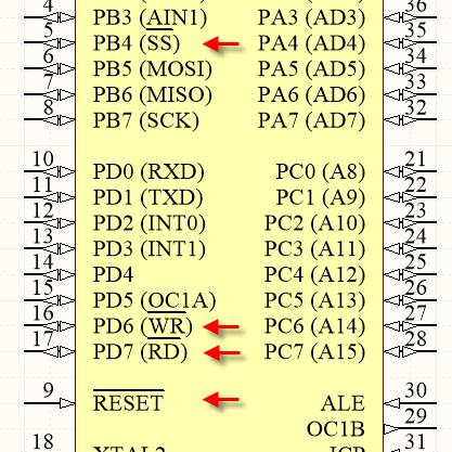 Atmel AT90S8515 Microcontroller Pin Configuration