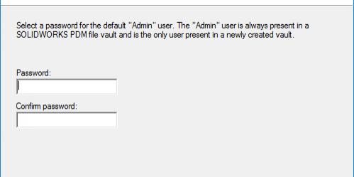 Archive Server Configuration - Default Password