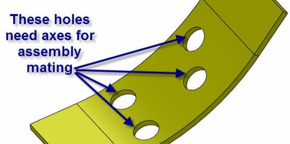 Figure 1: Holes applied to a sheet metal part
