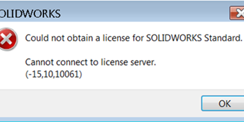 SOLIDWORKS SolidNetwork License Manager - Cannot connect error