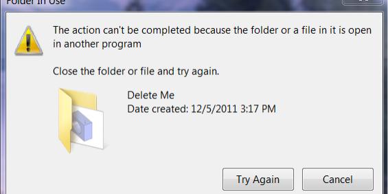 Can't delete