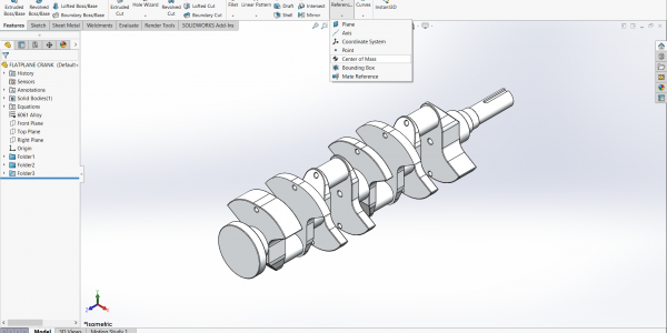 SOLIDWORKS Center of Mass