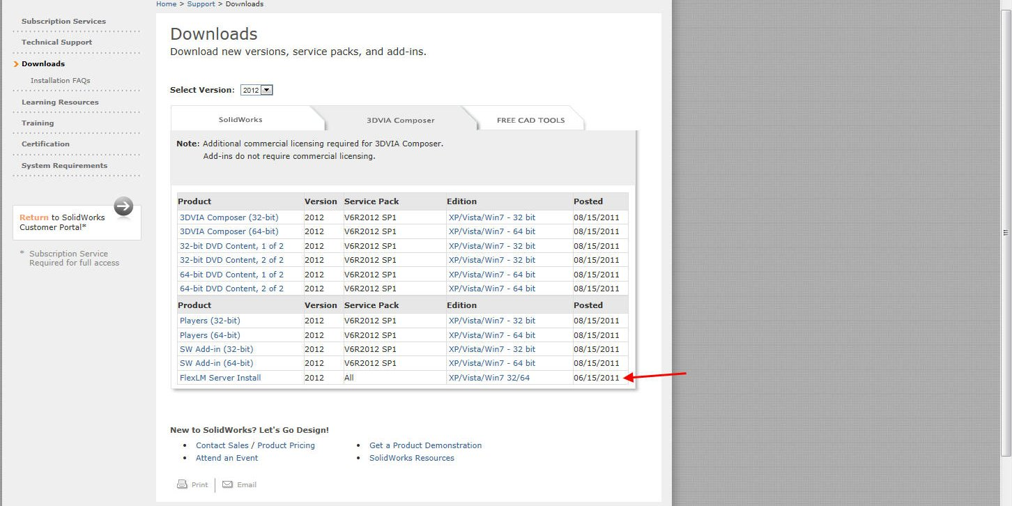 Composer License server download