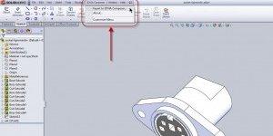 Composer Plug-in menu in SolidWorks