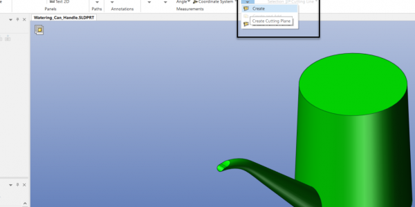 SOLIDWORKS Composer Section View