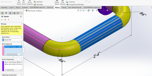 SOLIDWORKS Routing Spool References