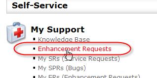 Enhancement Request link