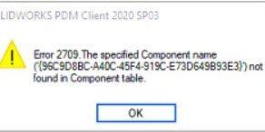 Error 2709