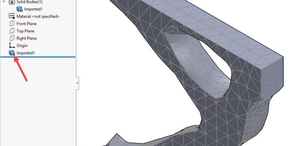 SOLIDWORKS Simulation 2019 Topology BREP Mesh Export