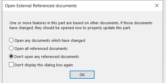 External Refrenced Documents Dialog