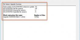 SOLIDWORKS PDM File Version Upgrade Tool