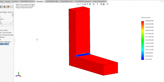 SOLIDWORKS Simulation Fatigue Module