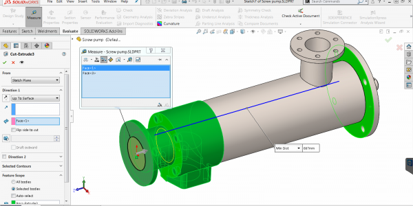 SOLIDWORKS 2019 Measure Tool Available with Other Tools