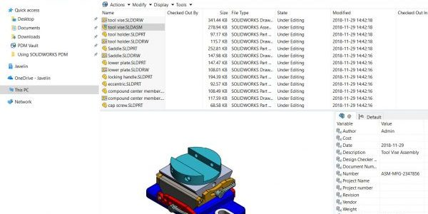 SOLIDWORKS PDM Show Preview Tabs