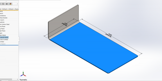 Sheet Metal Part with Pre-made Features