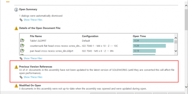 SOLIDWORKS 2020 Assembly Performance