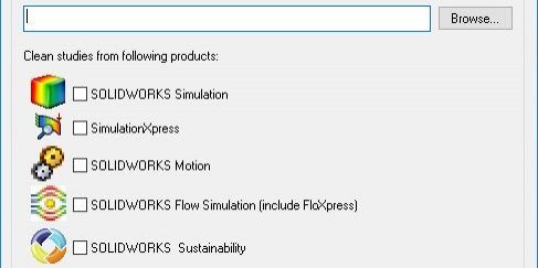 SOLIDWORKS Simulation Cleaning Utility