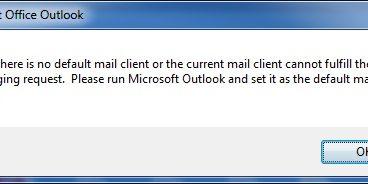 SOLIDWORKS PDM - No Default Mail Client Error