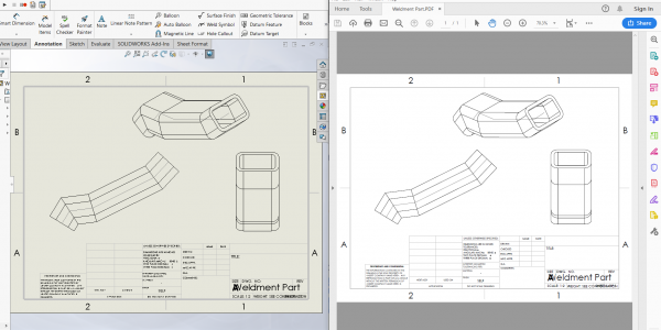 save solidworks drawing to pdf