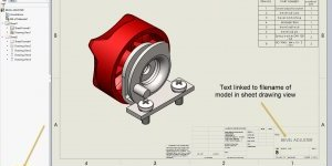 SOLIDWORKS Drawing Sheet1 Linked to Assembly Filename