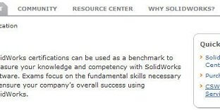 Certification Information on the SolidWorks Website