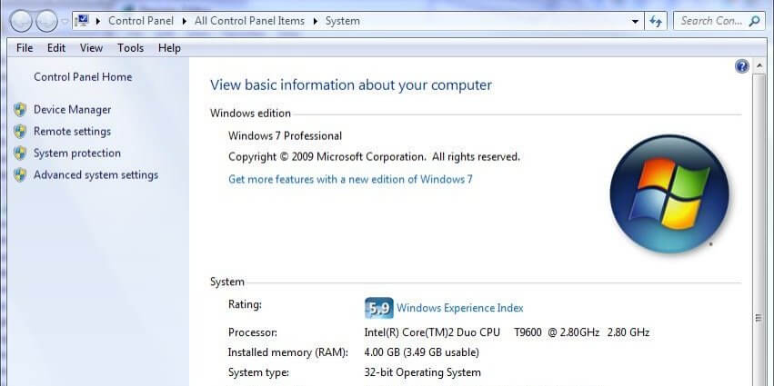 32-Bit System Information