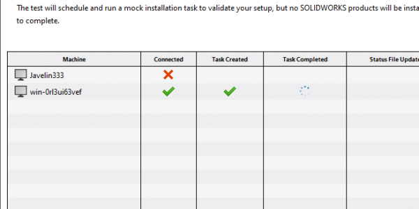 SOLIDWORKS Administrative Image Test Deployment