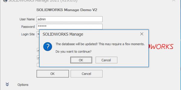 Upgrade Database Prompt