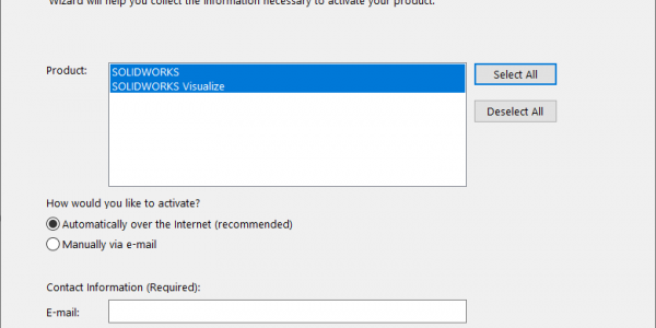 Activate SOLIDWORKS