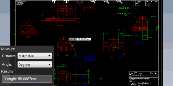 eDrawings DWG Measure
