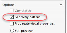 SOLIDWORKS Geometry Pattern