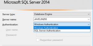 login SQL