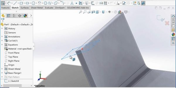 SOLIDWORKS Sketch Normal to Curve