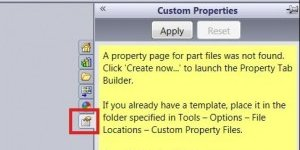 Custom Properties Tab