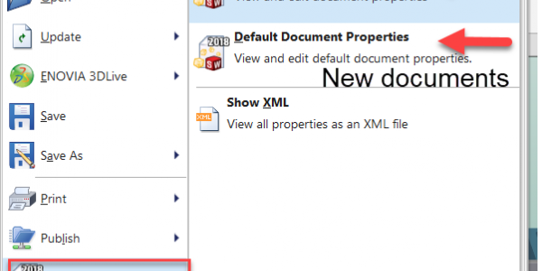 How to access document properties