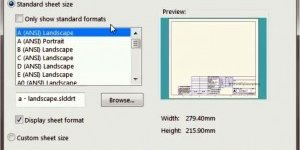 SolidWorks drawing template & Sheet Format