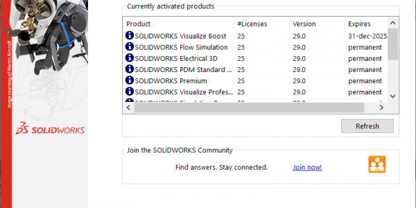 SolidNetWork License Activated