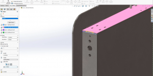 SOLIDWORKS Tab and Slot feature works in parts, multi-body parts and assemblies.