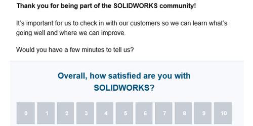 SOLIDWORKS Survey Email