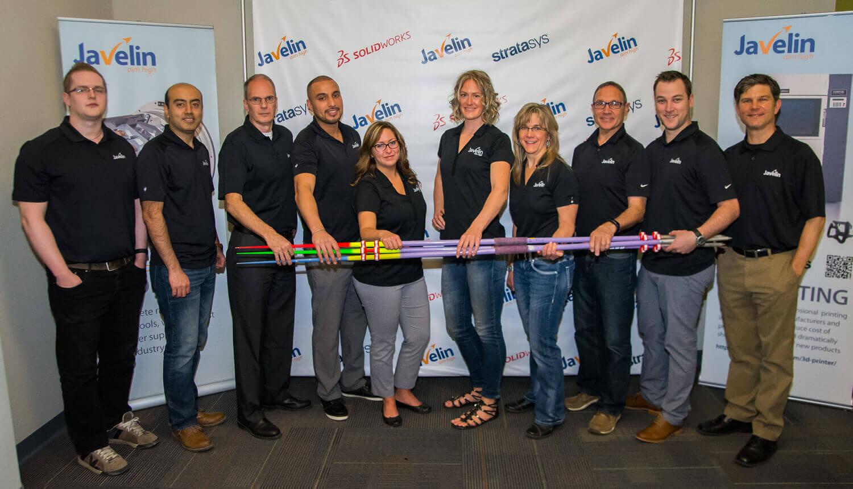 Javelin Calgary Team with Liz Gleadle