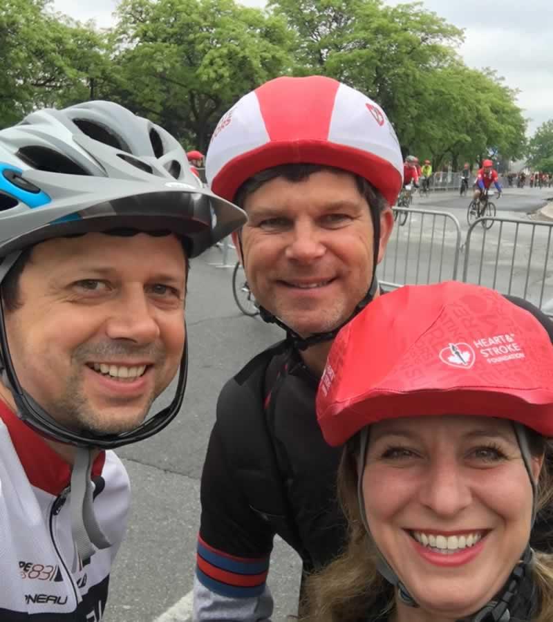 Ride for Heart participants Alin, John & Josie